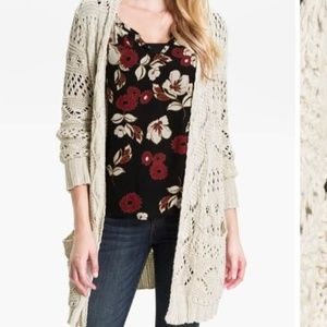 Lucky Brand Huntington Chunky Knit Open Cardigan
